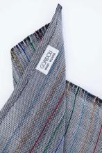 Design_Colourful_Silk_Line. Description_Grey_Close_Weave_Silk _Lines. Material_Cotton_ Silk. AvailableColours_grey. Price_55euro